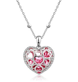 "Supercute Collier ""Love of a Womans Heart"" rood"