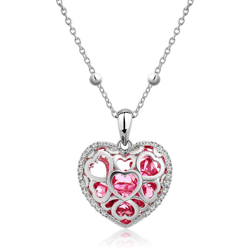 """Supercute Collier """"Love of a Womans Heart"""" rood"""
