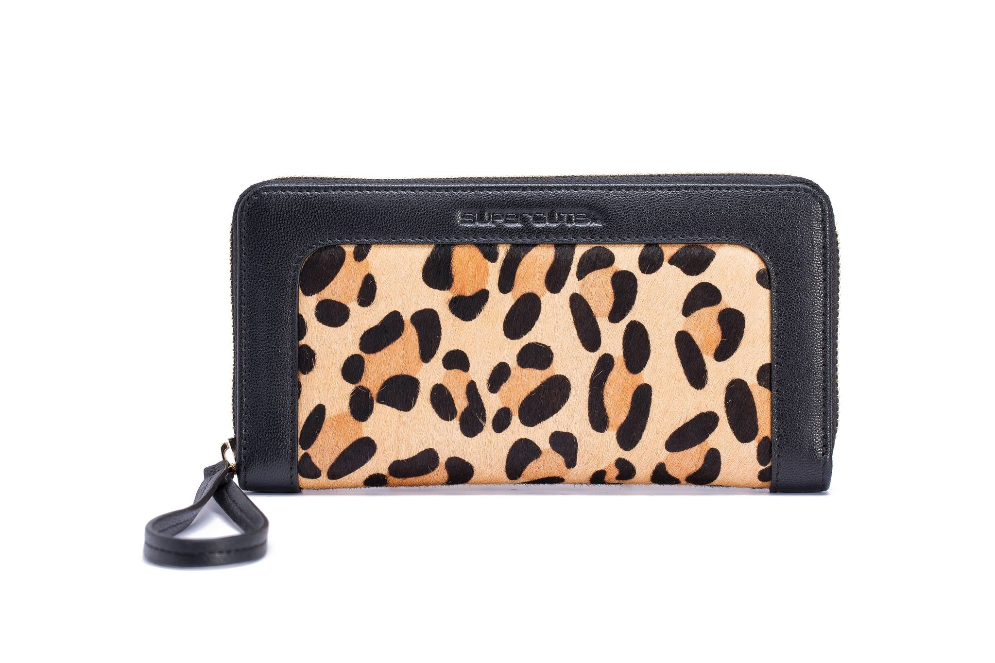 Coole Portemonnee.Lederen Antiskim Portemonnee Leopard Cool Items