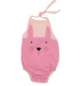 Supercute Strand / badpakje roze haasje