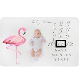 Supercute Mijlpaaldeken Milestoneblanket Flamingo