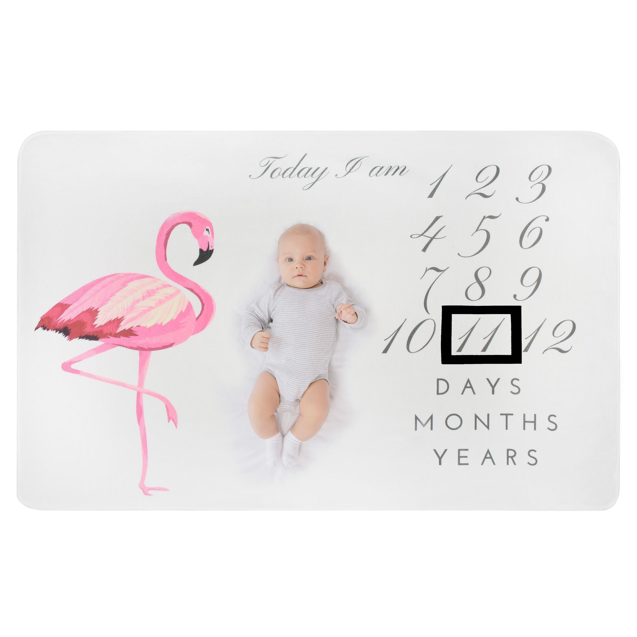 Supercute Mijlpaaldeken Milestonedeken Flamingo