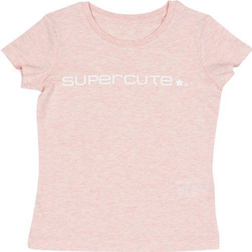 Supercute Organic T-shirt Voor Kinderen Gemêleerd Roze