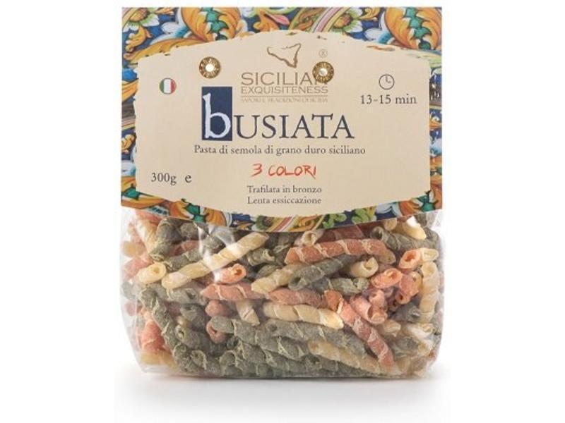 Busiata 3 colori, Siciliaanse pasta gemaakt van de beste ingrediënten