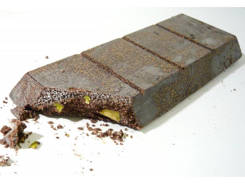 Chocolade uit Modica bereid met Siciliaanse pistache