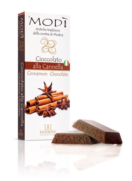 Chocolade uit Modica bereid met kaneel