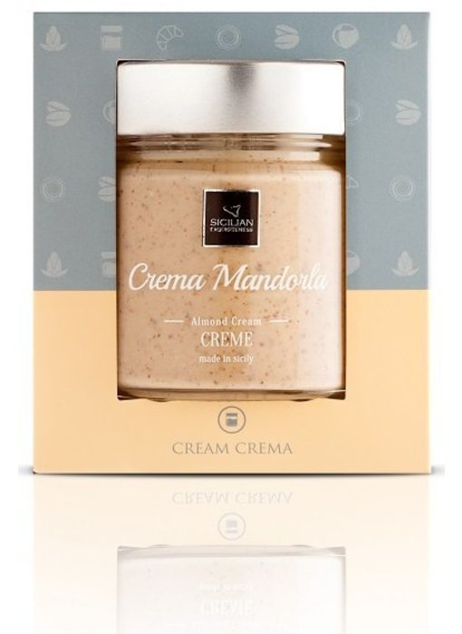 Crema Mandorla, Amandelcrème uit Sicilie