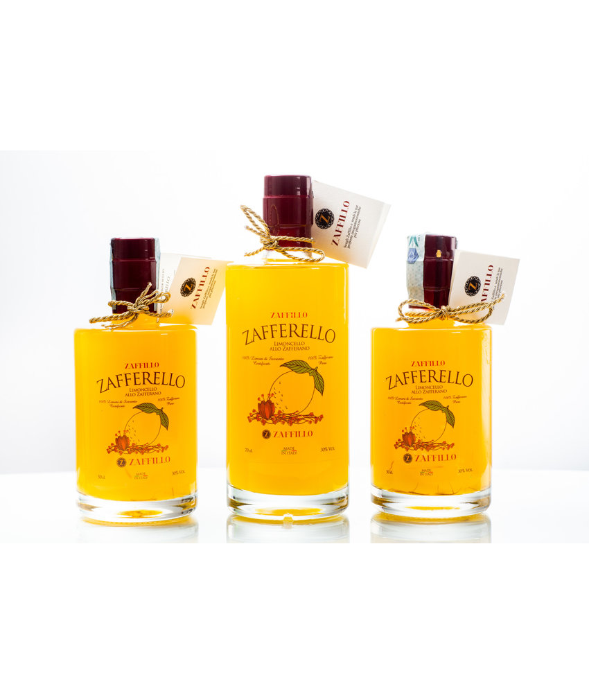 Zaffillo Limoncello met saffraan: Zafferello 50cl