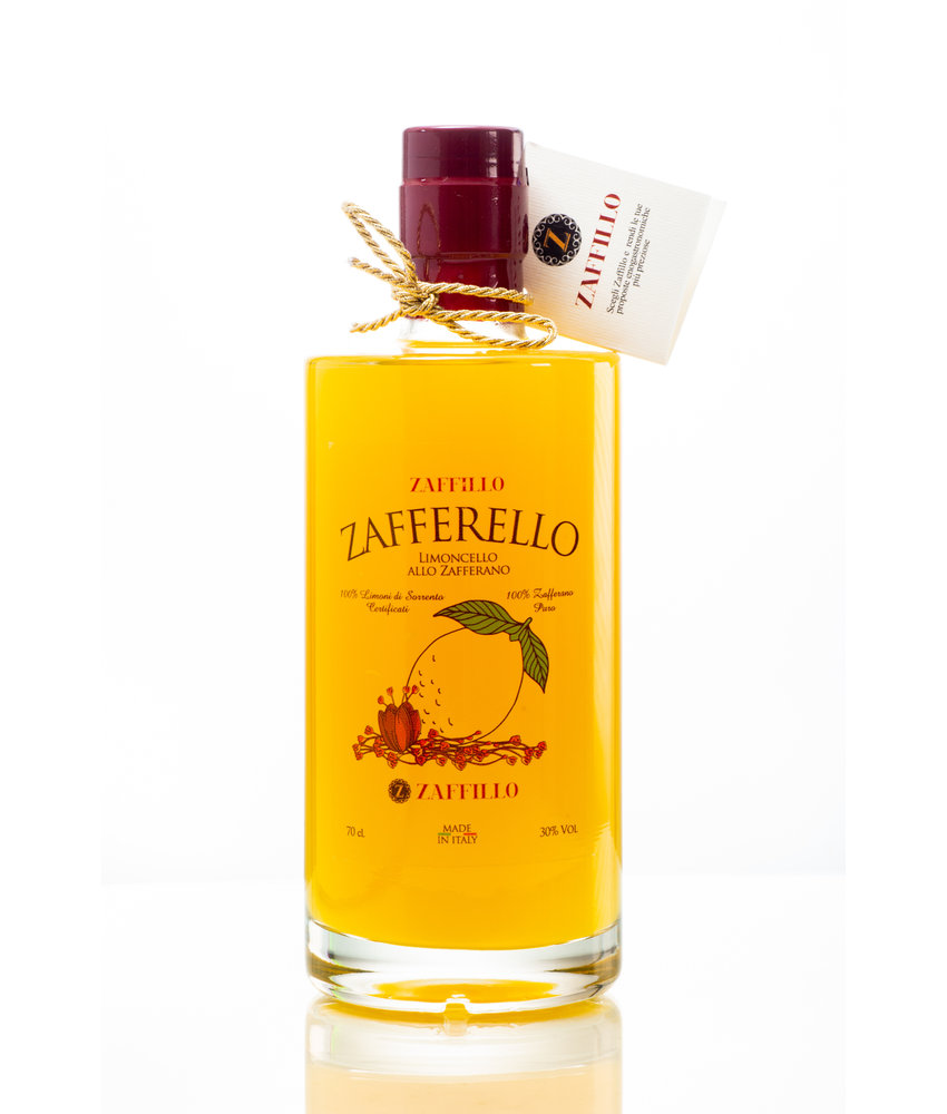 Zaffillo Limoncello met saffraan: Zafferello 70 cl