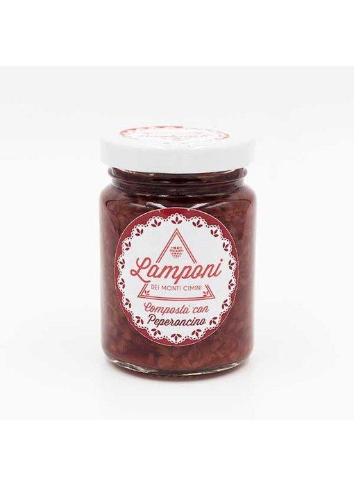 Lamponi Frambozen compote met Peperoncino