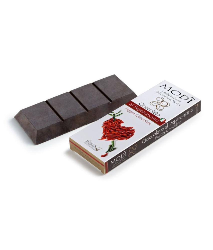 Chocolade uit Modica Sicilie met rode peper
