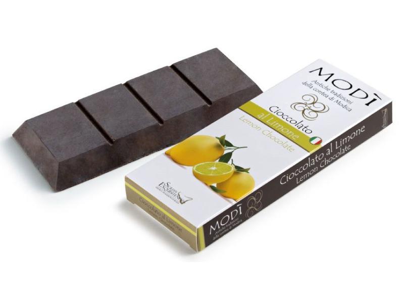 Chocolade uit Modica, Sicilie bereid met de echte Siciliaanse citroen