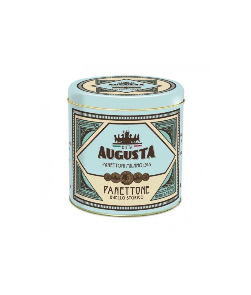 Augusta Panettone Augusta 100 gr in blik 50% KORTING