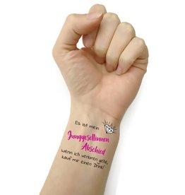 Junggesellenabschied Tattoo Set 10-teilig