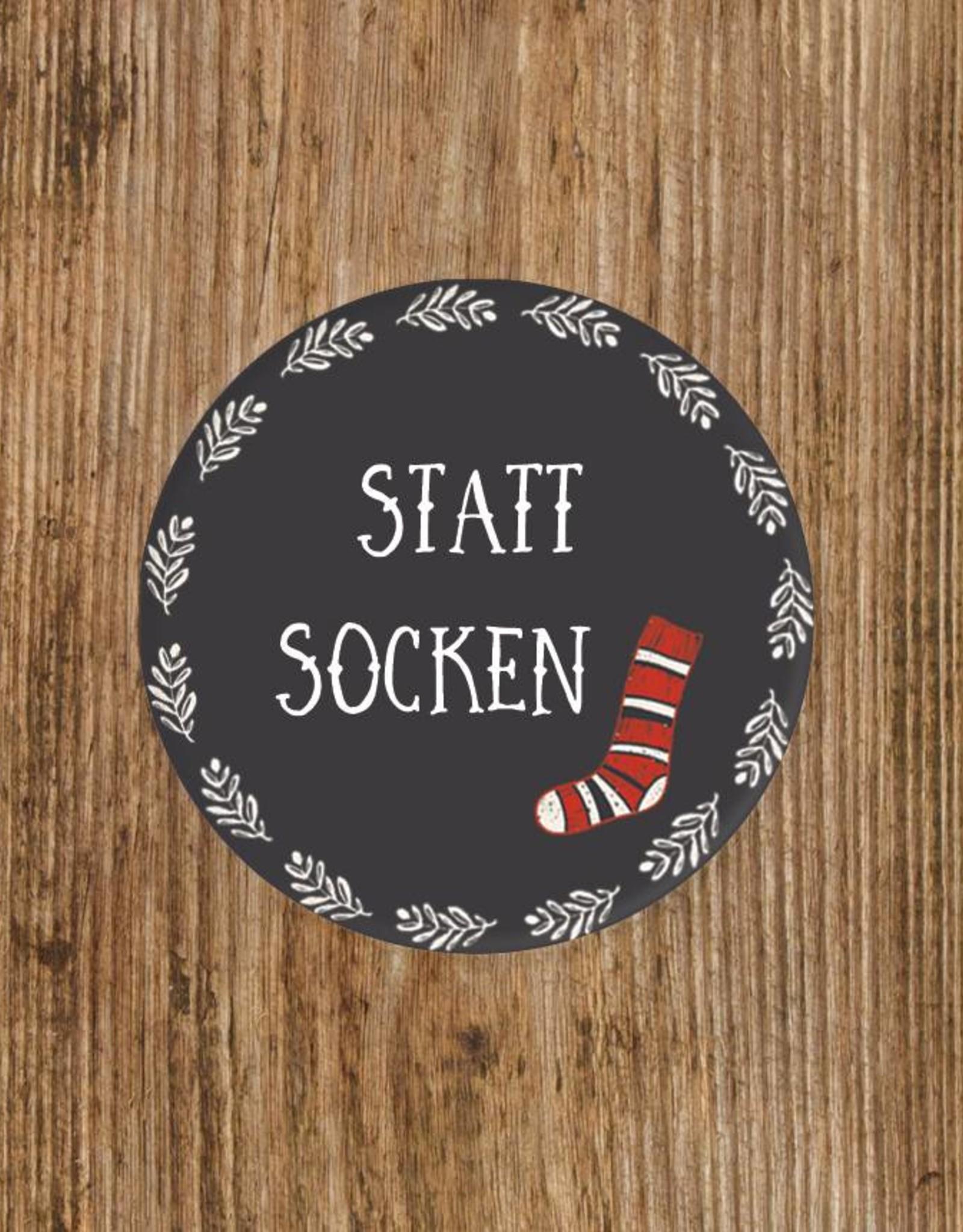 """25 Sticker """"Statt Socken"""""""