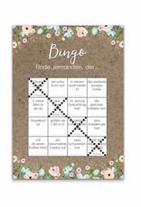 50 Bingokarten Hochzeit, Hochzeitsbingo Spiel