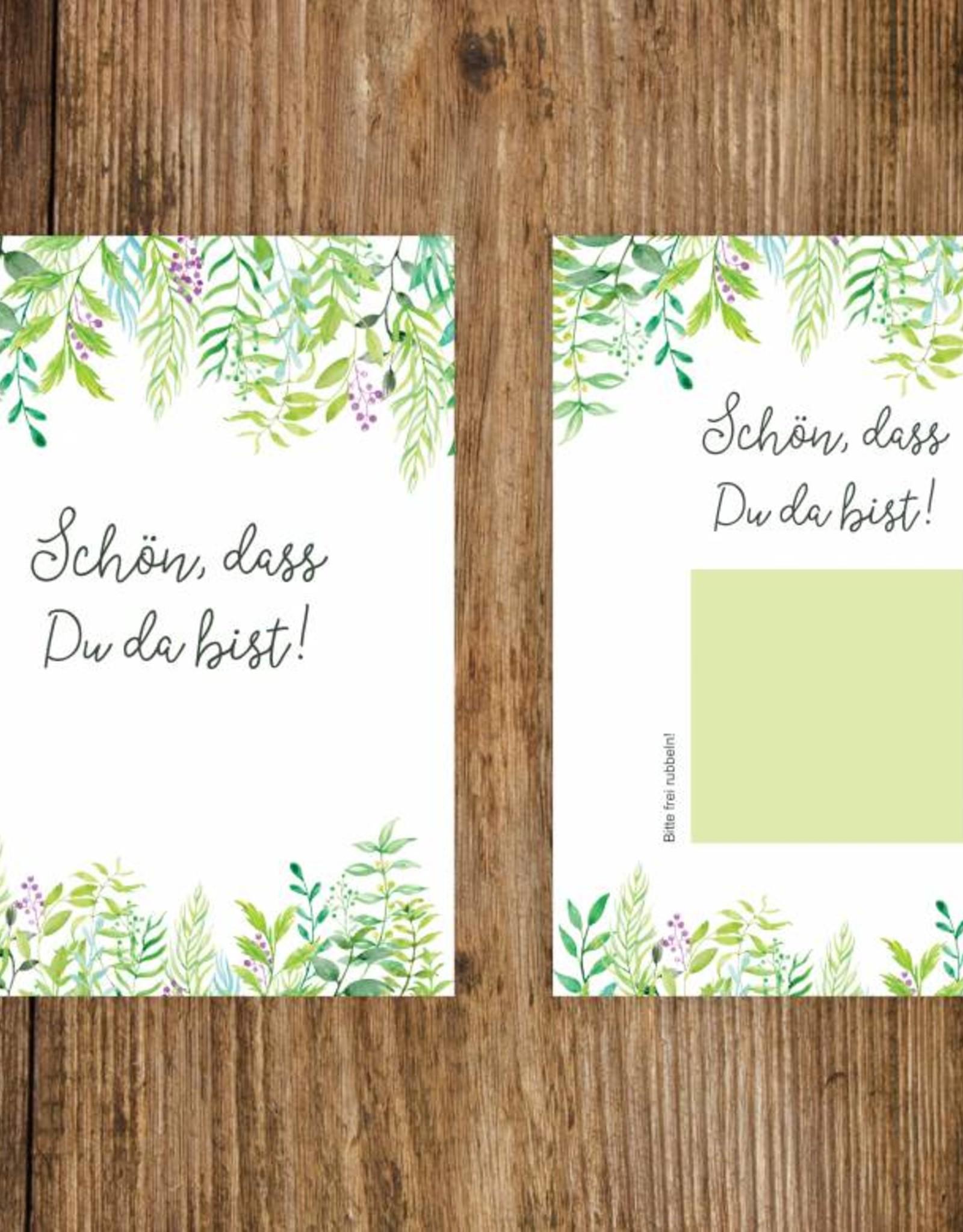 """50 Rubbelkarten """"Grüne Hochzeit"""""""