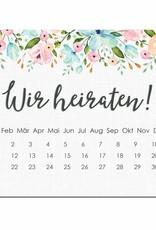 Save the Date Karten für die Hochzeit, 50 Stück