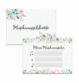 """50 Musikwunschkarten """"Weiße Hochzeit"""""""