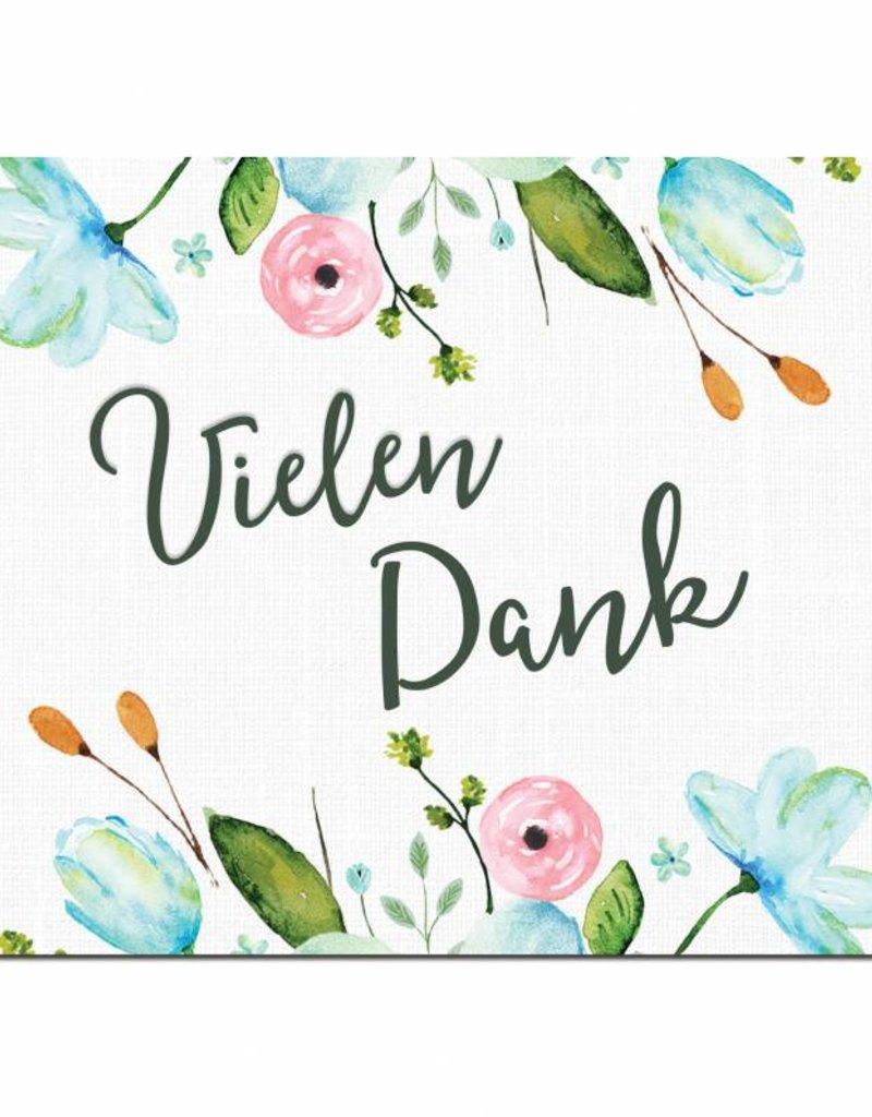 """Postkarte """"Vielen Dank"""" Weiße Hochzeit"""