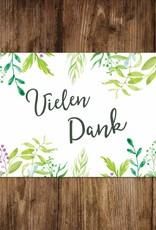 """Postkarte """"Vielen Dank"""" Grüne Hochzeit"""