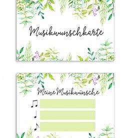 """50 Musikwunschkarten """"Grüne Hochzeit"""""""