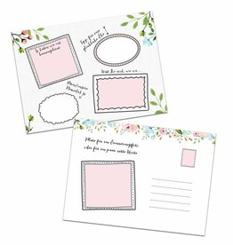 """Gästebuchkarten """"Weiße Hochzeit"""""""