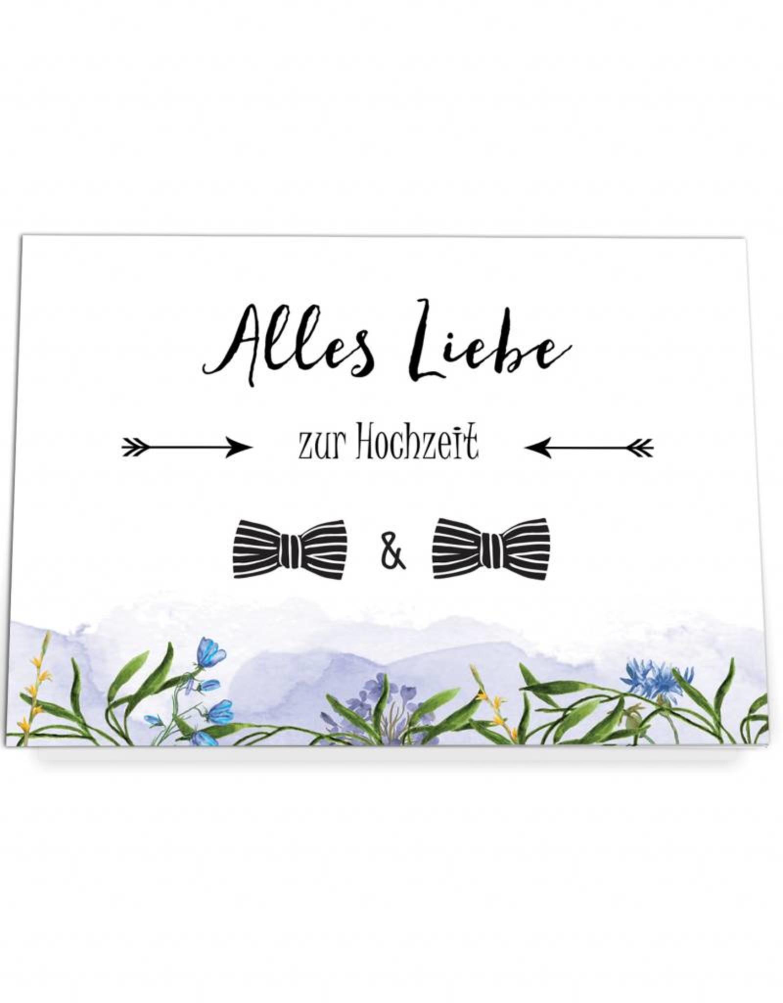 """Glückwunschkarte Hochzeit """"Männer"""" mit Umschlag"""
