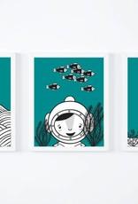 """Wandbilder 3er Set """"Unter dem Meer"""""""
