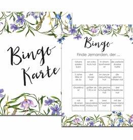 "50 Bingokarten ""Blaue Hochzeit"", Hochzeitsbingo"