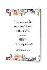 """Glückwunschkarte Hochzeit """"Heiraten, was übrig bleibt"""""""
