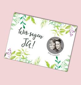 """25 Save the date Rubbelkarten """"Grüne Hochzeit"""""""