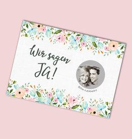 """25 Save the date Rubbelkarten """"Weiße Hochzeit"""""""