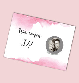 "25 Save the date Rubbelkarten ""Aquarell Hochzeit"""