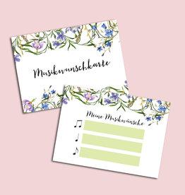 """50 Musikwunschkarten """"Blaue Hochzeit"""""""