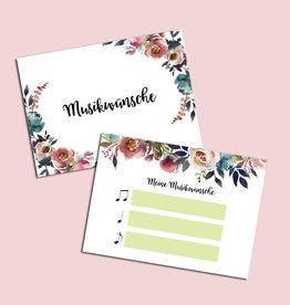 """50 Musikwunschkarten """"BOHO Hochzeit"""""""