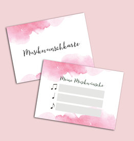 "50 Musikwunschkarten ""Aquarell Hochzeit"""