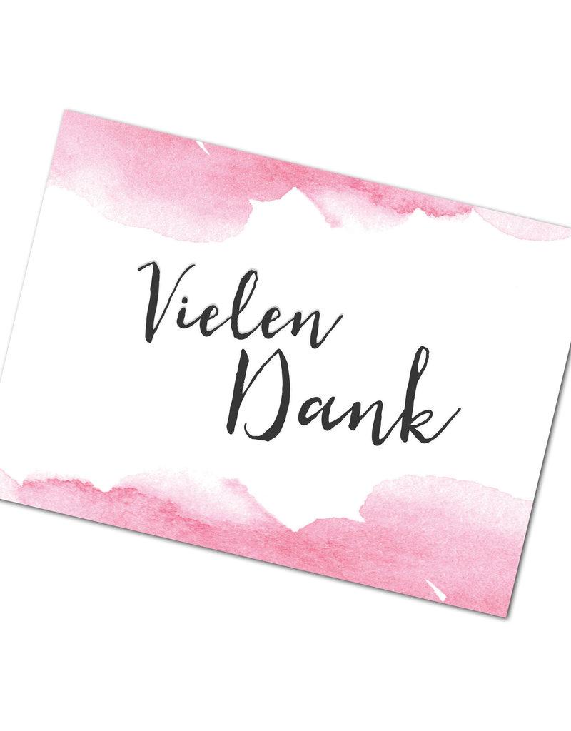 "Postkarte ""Vielen Dank"" Aquarell Hochzeit"