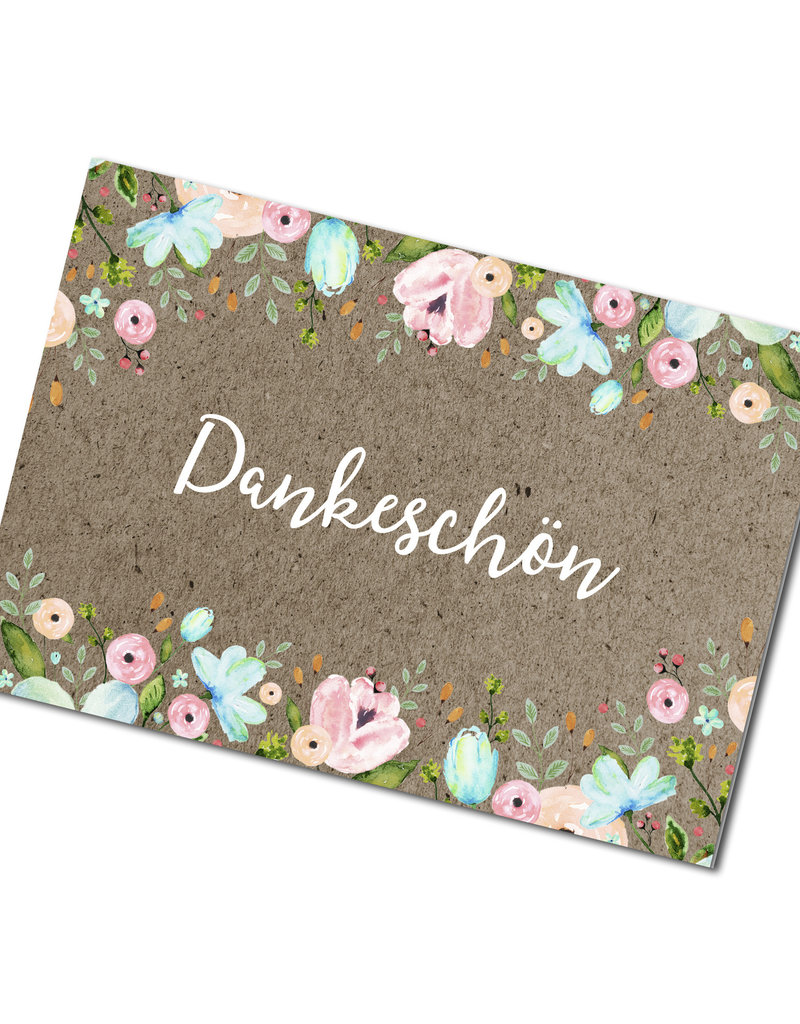 "Postkarte ""Dankeschön"""