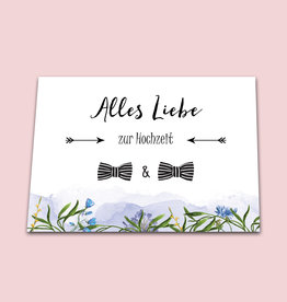 "Glückwunschkarte Hochzeit ""Männer"""
