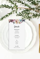 """10 Menükarten zum Bedrucken """"BOHO Hochzeit"""" Getränkekarte Hochzeit"""