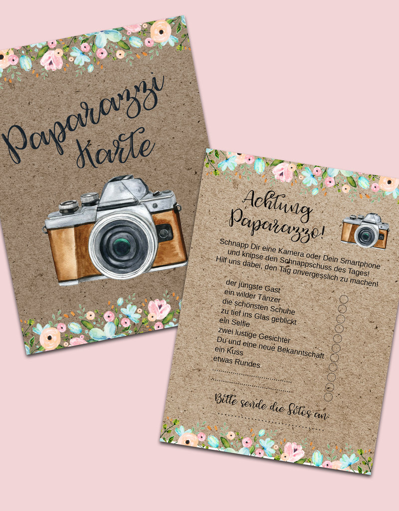 50 Fotokarten Hochzeit