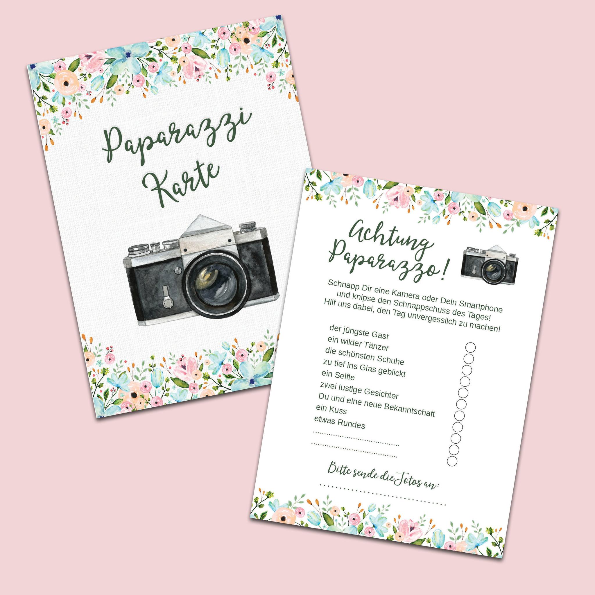 """50 Fotokarten /""""Weiße Hochzeit/"""" Hochzeit Fotospiel Fotoralley Hochzeitsspiel"""