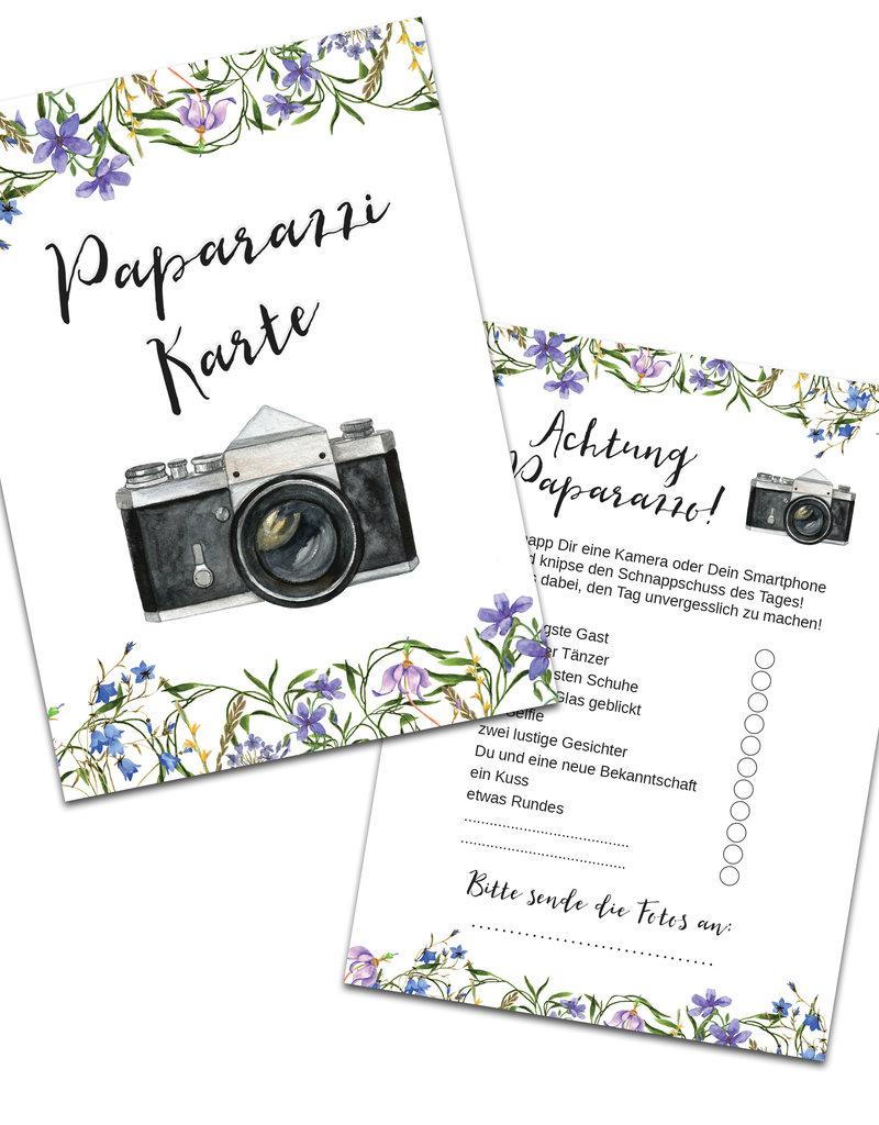"""50 Fotokarten """"Blaue Hochzeit"""""""