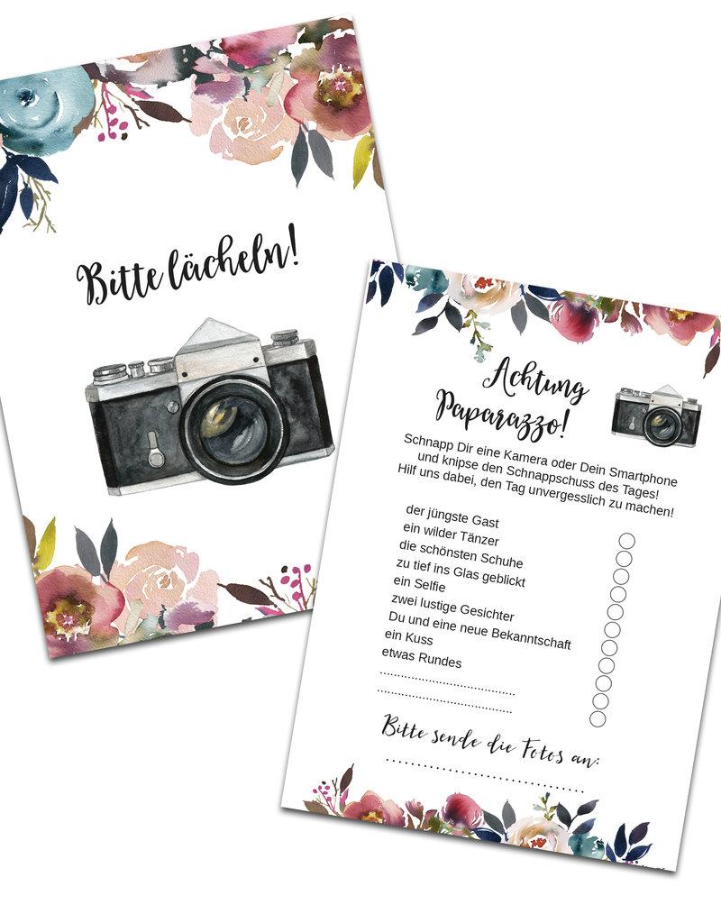 """50 Fotokarten """"Boho Hochzeit"""""""
