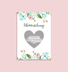 """5 x Rubbelkarten """"Überraschung Blumen"""""""