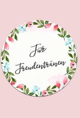 """50 Sticker """"Für Freudentränen!"""" Weiße Hochzeit"""