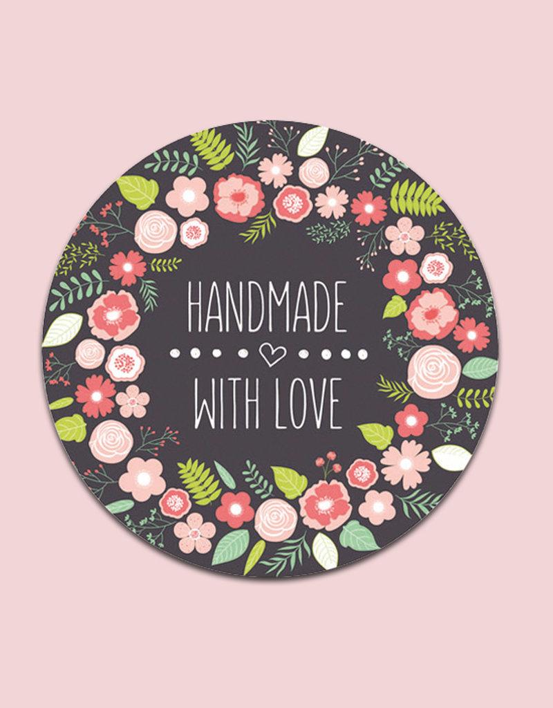 "50 Sticker ""Handmade with Love"""