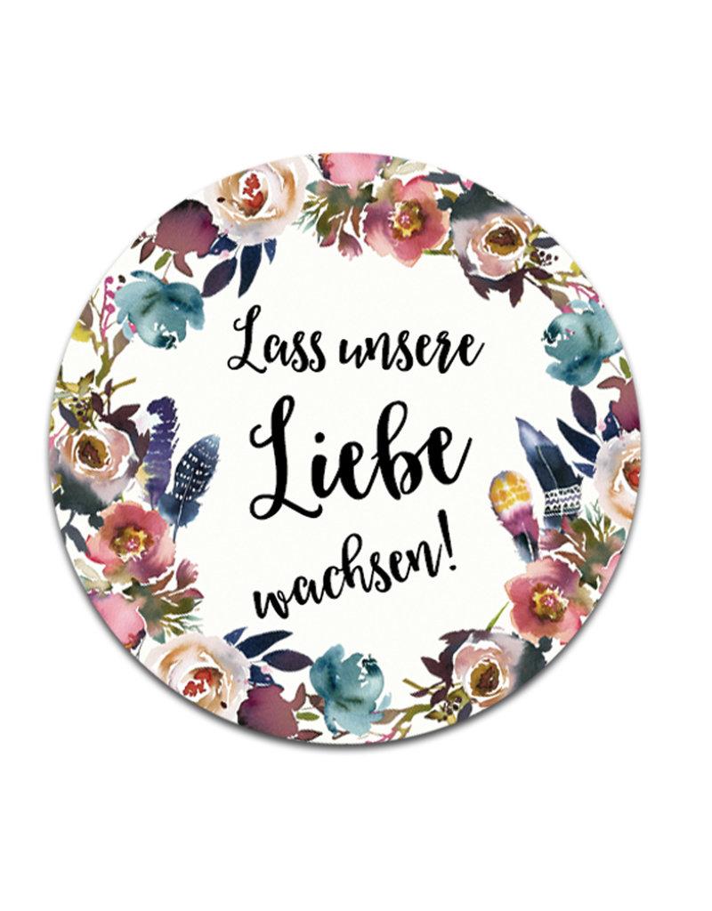 """50 Sticker """"Lass unsere Liebe wachsen!"""" BOHO Hochzeit"""