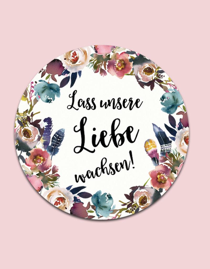 50 Sticker Lass Unsere Liebe Wachsen Boho Hochzeit